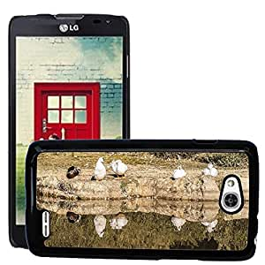 Hot Style Cell Phone PC Hard Case Cover // M00310083 Nature Lake Animal World Landscape // LG Optimus L90 D415