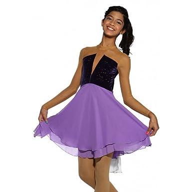 Amazon.com: Patinaje artístico vestido, morado, S, Púrpura ...