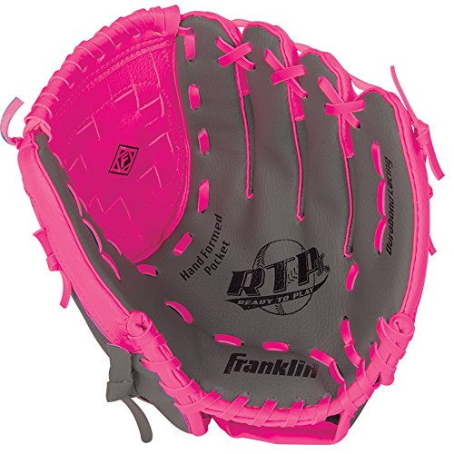 Baseball Glove Youth Pink - Franklin Sports RTP Teeball Performance Gloves, 10.5
