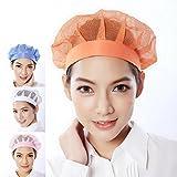 2 Unisex DDlin Restaurant Kitchen Hair net Hair Control Cap (Orange)
