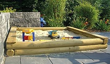Gunstiger Baumstamm Sandkasten Sandkiste Aus Kiefer Holz Fur Den