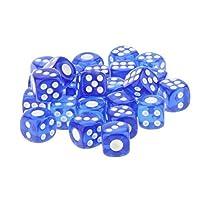 SONONIA 50枚 ミリメートル 6面 サイコロ 半透明 ダイス D&D RPGゲーム 12ミリメートル 青の商品画像