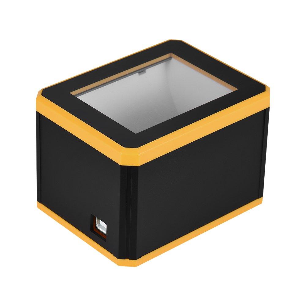 Aibecy Escáner de Código de Barras Omnidireccional Platform 1D / / 2D / 1D QR Barcode Scanner Reader Presentación con Interfaz USB 029a0e