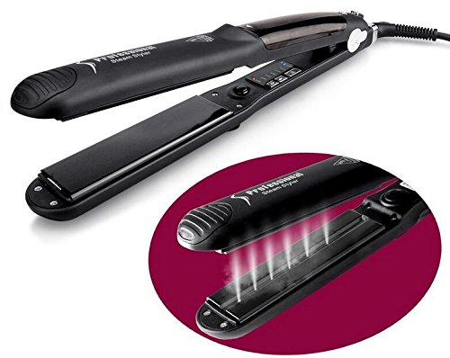 Professional Water/Oil Steam Hair Straightener Flat Iron Injection Painting 450F Straightening Irons Hair Care Styling Tools,For Argan Oil Hair Treatment Vapor ()