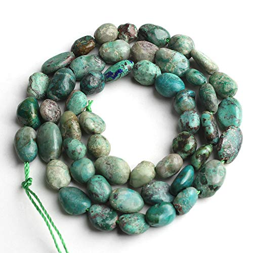 Love Beads Nature Stone Irregular Phoenix Turquoise 6-8mm Beads for Jewelry Making DIY Beads Bracelets 15inches
