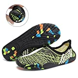 CIOR Men Women Barefoot Quick-Dry Water Sports Aqua Shoes with 14 Drainage Holes for Swim, Walking, Yoga, Lake, Beach, Garden, Park, Driving,SYY05,mcgreen,43