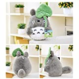 22cm lovely plush toy, my neighbor totoro plush toy lovely doll totoro with lotus leaf