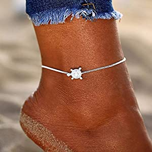 bjduck99 Women Bohemian Turtle Anklet Ankle Bracelet Summer Beach Foot Jewelry Party Gift