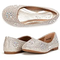 DREAM PAIRS Nina-100 Girls Dress Shoes Classic Ballet Flats (Toddler/Little Kid/Big Kid)