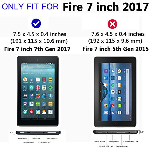 [Pack of 2] Gzerma for Fire 7 Screen Protector 7th Generation, Shatter Proof, Easy Installation Front Protective Cover Film for Amazon All-New Fire7 Kids Edition Tablet 2017 Release by Gzerma (Image #1)