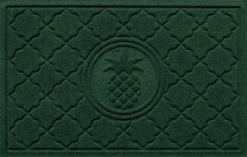 Bungalow Flooring WaterGuard Signature Series 2 by 3-Feet Door Mat, Bombay Pineapple Design, Evergreen
