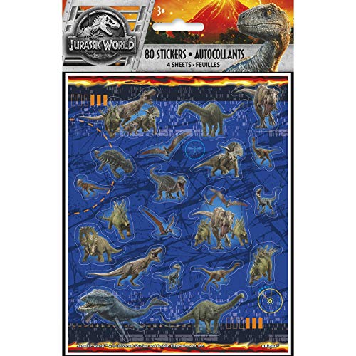 Unique Industries Jurassic World: Fallen Kingdom Sticker Sheets (4) ()