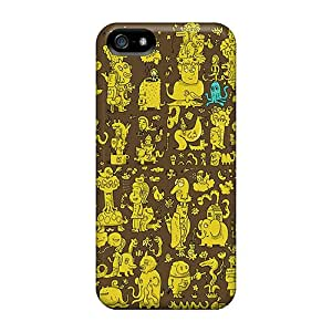 Protective Tpu Case With Fashion Design For Iphone 5/5s (super Doodle)