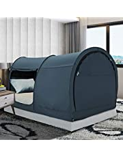 LEEDOR Bed Tent Dream Tents Bed Canopy Shelter Cabin Indoor Privacy Warm Breathable Pop Up Twin Size for Kids and Adult Patent Pending(Mattress Not Included)