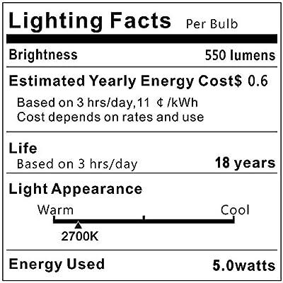 5xE12 C35 4W LED Bulb 550 Lumens