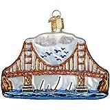 Old World Christmas Golden Gate Bridge Glass Blown Ornament
