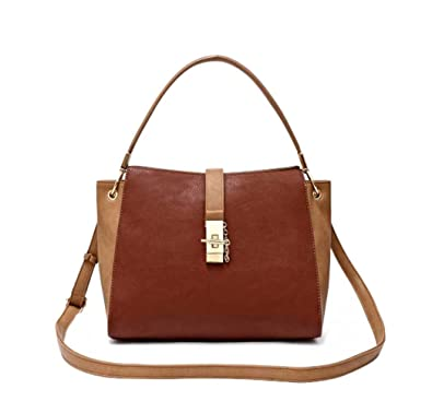 8d0b7ad74560 Easter Basket Stuffer Top Handle Handbag Essential 2019 Best Classic Two  Tone Beige Brown Vegan Leather Over The Shoulder Satchel Purse Tote Bag New  Unique ...