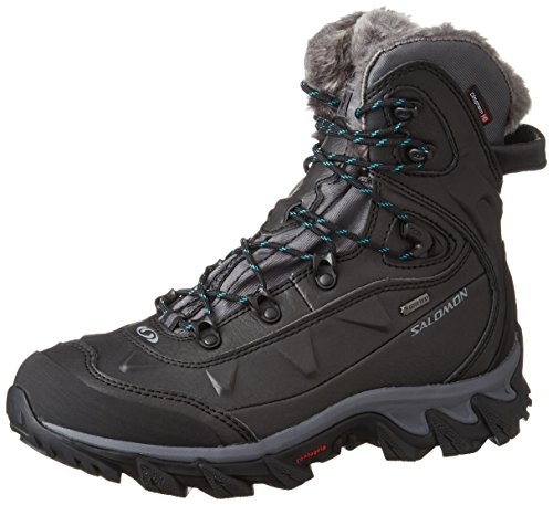 Salomon L39184400 - Botas de senderismo Mujer Negro (Black /             Dark Cloud /             Teal Blue F)