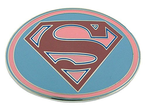 Supergirl Belt Buckle DC Comics Us American Super Woman S Logo Pink Metal Finish (Superwoman Halloween Costumes)