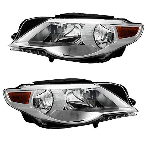 Koolzap For 09-10 VW Passat CC Front Headlight Headlamp Halogen Head Light Lamp Set Pair