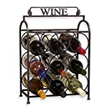 VINTAGE 9 BOTTLE METAL WINE RACK 19″
