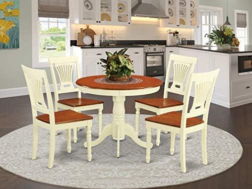 Best dining room set: East West Furniture Wooden Dining Table Set