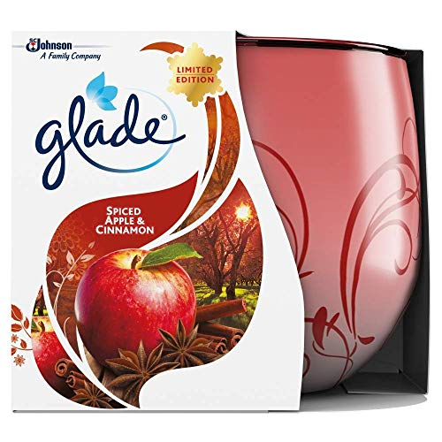 Glade 4oz Candle Apple and Cinnamon, Pack of 6