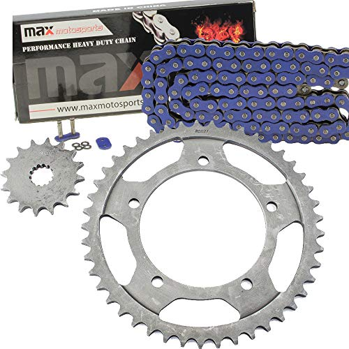 Blue O-Ring Chain and Sprocket Kit for Suzuki GSX-R 600 2001 2002 2003 2004 ()