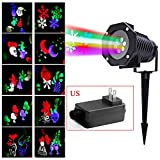 Outdoor Led Christmas Lights,Lily's Gift Auto Rotating LED Light Landscape Projector Lamp Christmas Decoration US Plug