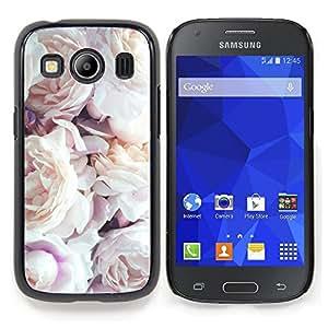 Stuss Case / Funda Carcasa protectora - Pink rosas blancas Primavera Naturaleza - Samsung Galaxy Ace Style LTE/ G357