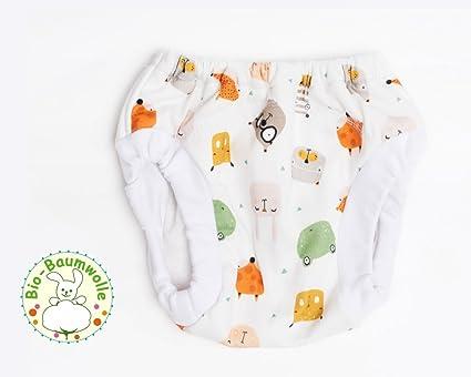 Trainer Pantalón Zoo, entrenamiento Pants, lavable Aprendizaje pañales bio de algodón absorbente con integrada
