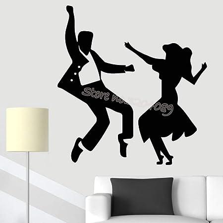 zhuziji Jive Dance Couple Etiqueta de la Pared Bailarines Latinos ...