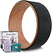 Yoga Wheel - Strongest Most Comfortable Yoga Prop Wheel for Yoga Poses, Perfect Roller for Stretching, Increas