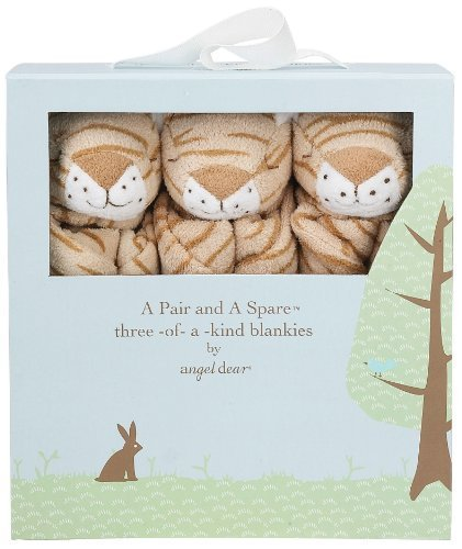 Angel Dear Pair and a Spare 3 Piece Blanket Set, Tiger by Angel Dear Angel Dear Tiger