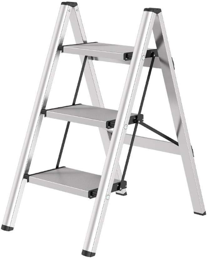 AINIYF Taburete de escalera Aluminio Escalera plegable Hogar Taburete de pie portátil Soporte de flores Escalera Taburete Disparo Almacenamiento Taburete for caballos: Amazon.es: Bricolaje y herramientas
