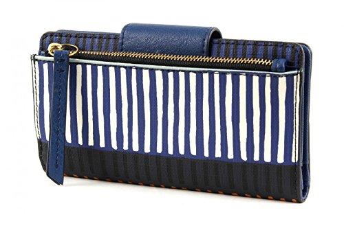 FOSSIL Emma Tab Frizione Navy Stripe