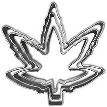 Marijuana Leaf Cookie Cutter Set - Stainless Steel