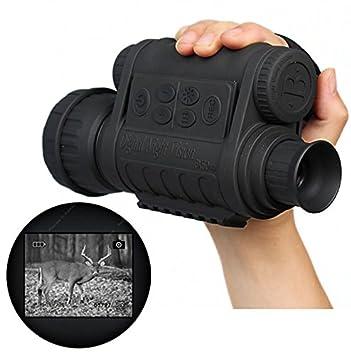 effced136c17db Boblov Monoculaire Vision Nocturne Lunettes Vision Nocturne Jumelles  Infrarouge de Vision Nocturne HD 720P 5MP 6x50