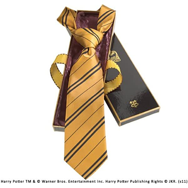 The Noble Collection Hufflepuff 100% Seda Corbata en la Caja de ...
