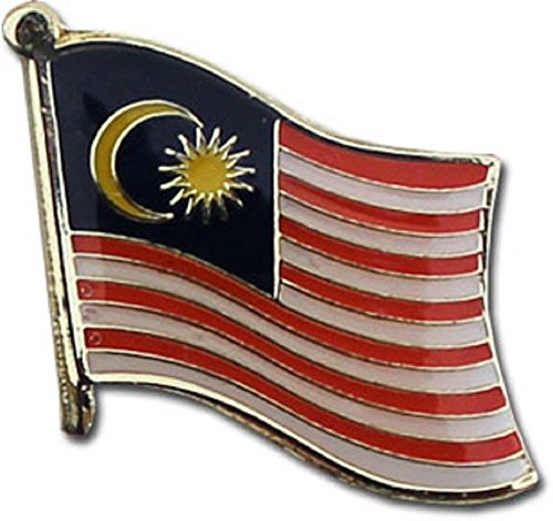 ALBATROS Pack of 24 Malaysia Country Flag Lapel Pin for Bike Hat and Cap for Home and Parades, Official Party, All Weather Indoors Outdoors ()