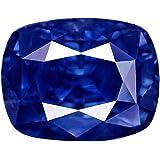 Pride Gems Blue Sapphire Neelam 5 Ratti 4.55 Carat Cushion Shape AAA+ Certified Natural Rashi Ratan Gemstone for Men and Women