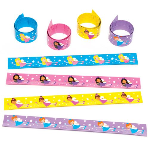 Fairy Princess Snap-on Bracelets for Children to Wear - Perfect Toy Party Bag Filler Loot Gifts for Kids (Pack of 4) Baker Ross