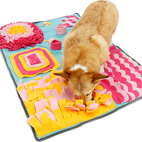 Pet Snuffle Mat for Dogs, Dog Puzzle Toys, Interactive Feed Game for Boredom, Encourages Natural Foraging Skills for…