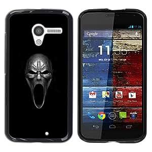 Caucho caso de Shell duro de la cubierta de accesorios de protección BY RAYDREAMMM - Motorola Moto X 1 1st GEN I - Mal Howl Cráneo - Goth
