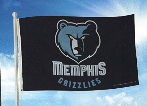 NBA Memphis Grizzlies Banner Flag 3-Foot by 5-Foot