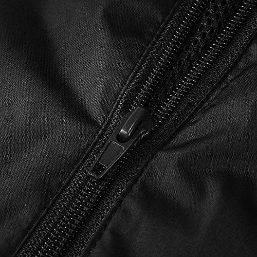 ... Casual Color sólido con Capucha de Manga Larga Chaqueta Impermeable de la Lluvia Impermeable Gabardina(XL,Negro): Amazon.es: Ropa y accesorios