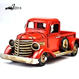 My Box Vintage / Retro Handicraft- Metal Old Cars Models - A Red Pickup Truck , the Best Choice for Christmas Gift/home Decor/ornament/ Desktop Decoration