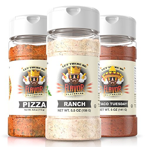 #1 Best-Selling 5oz. Flavor God Seasonings - Gluten Free, Low Sodium, Paleo, No MSG(Party Pack) by Flavor God