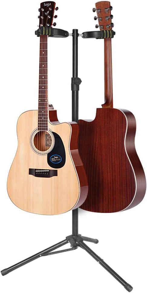 Doubleblack Soporte Guitarra Suelo Doble Pie para Acustica Bajo ...