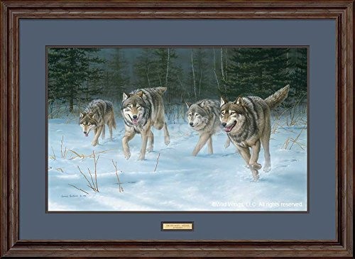 On the Move - Wolves Framed Limited Edition Print by Jim ()